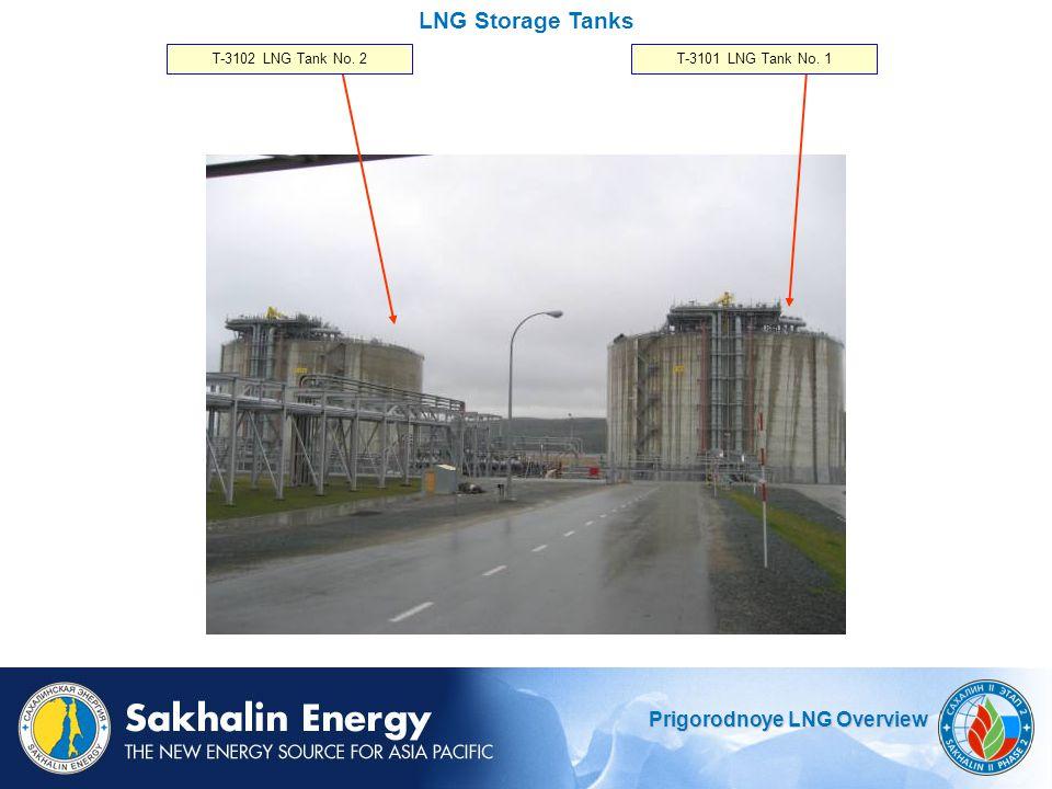Prigorodnoye LNG Overview LNG Storage Tanks T-3101 LNG Tank No. 1T-3102 LNG Tank No. 2