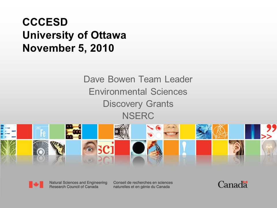 Outline  2010 Federal Budget & NSERC news  2010 Discovery Grants Competition & Results  Questions and Discussion