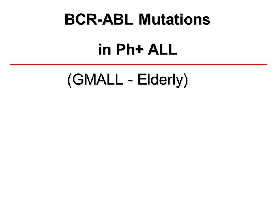 BCR-ABL Mutations in Ph+ ALL (GMALL - Elderly)