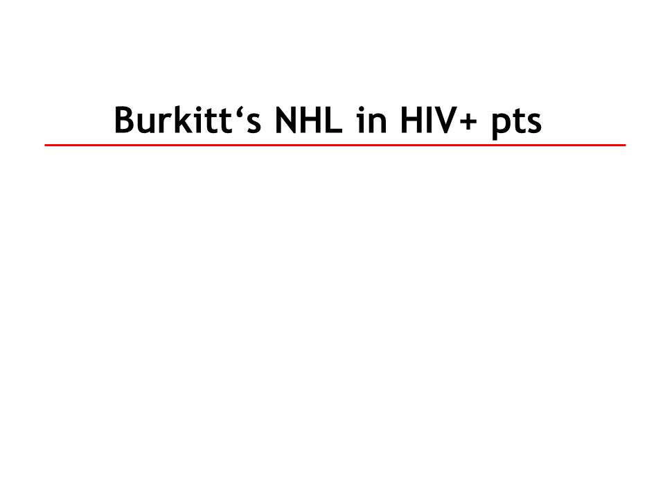 Burkitt's NHL in HIV+ pts