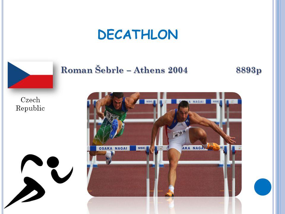 DECATHLON Roman Šebrle – Athens 2004 8893p Czech Republic