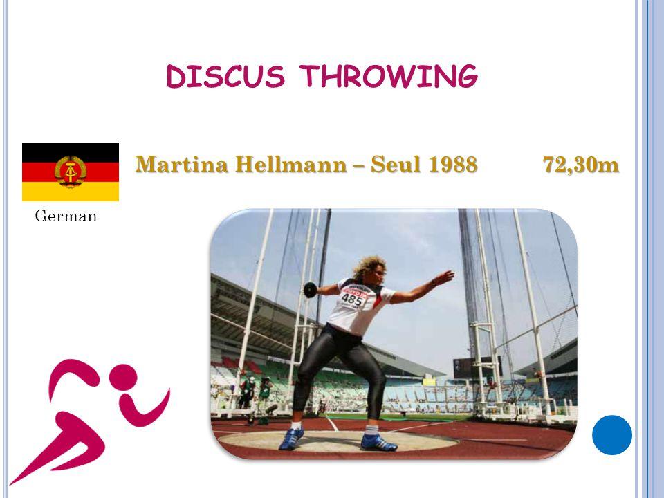 DISCUS THROWING Martina Hellmann – Seul 1988 72,30m German