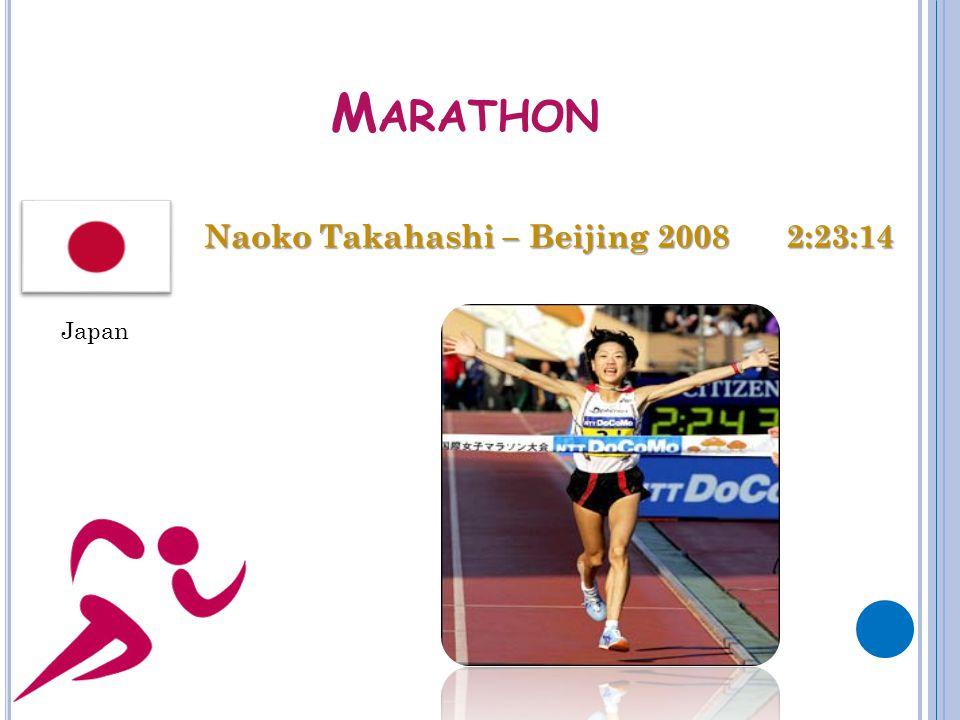 M ARATHON Naoko Takahashi – Beijing 2008 2:23:14 Japan