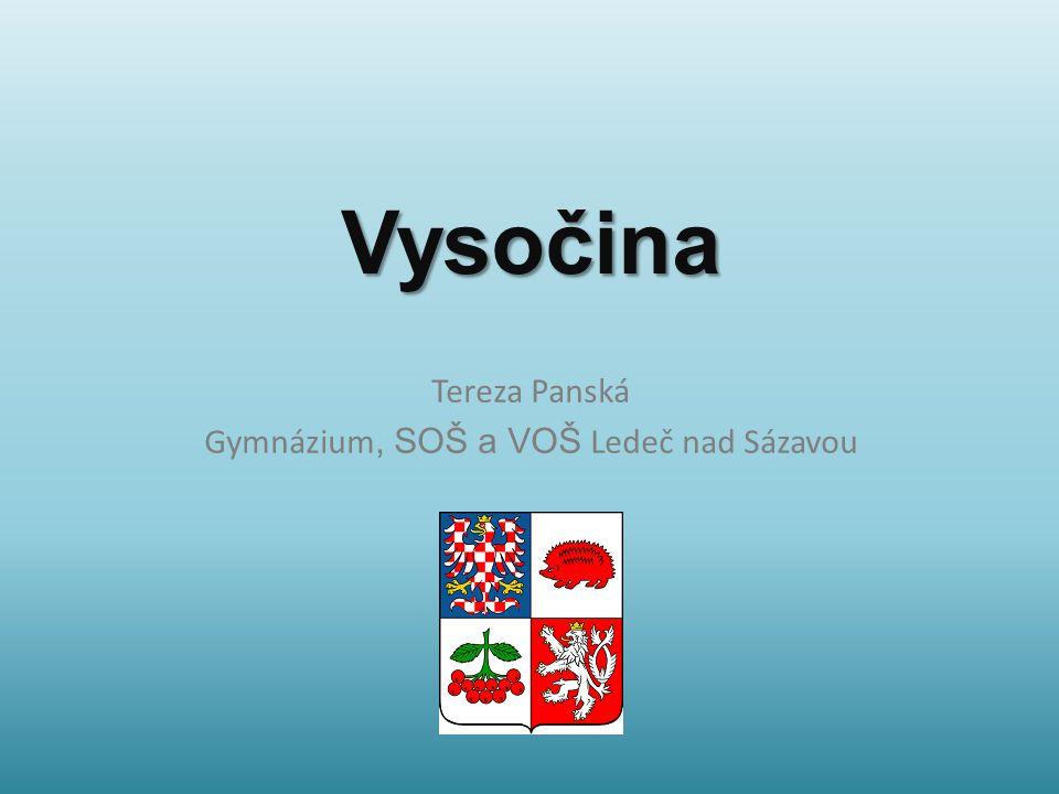 Vysočina Tereza Panská Gymnázium, SOŠ a VOŠ Ledeč nad Sázavou
