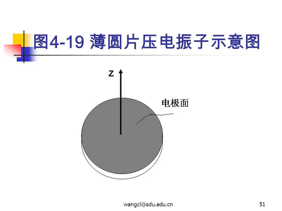wangcl@sdu.edu.cn51 图 4-19 薄圆片压电振子示意图