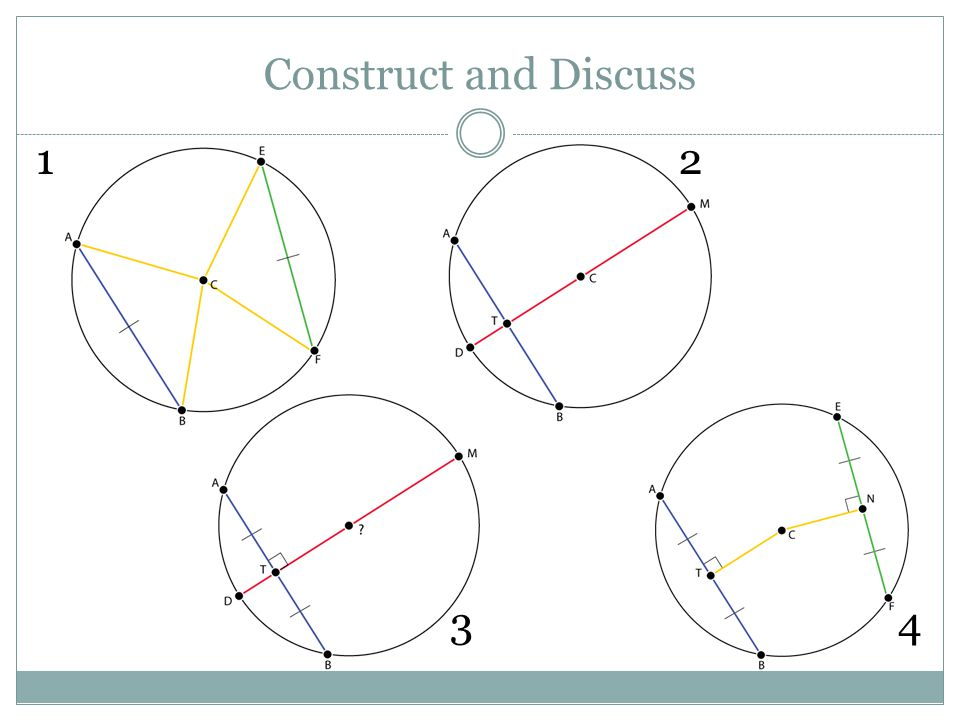 Construct and Discuss Use your compass and ruler to create your assigned construction.