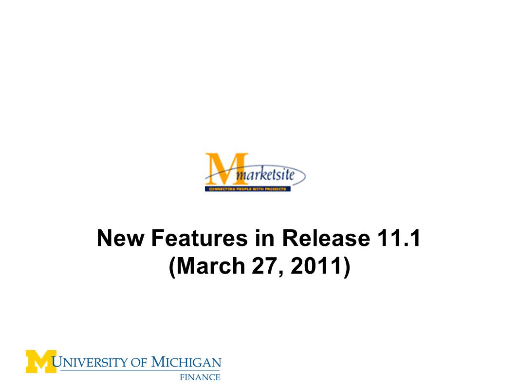 New Features in Release 11.1 (March 27, 2011)