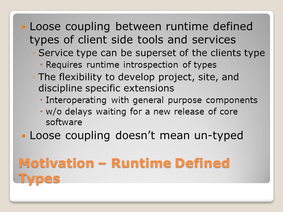 ServerServer Motivation – Recursive Services Request RDT Response RDT Request RDT Response RDT Response RDT Request RDT Server Record Device Support