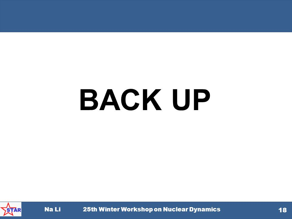 Na Li 25th Winter Workshop on Nuclear Dynamics 18 BACK UP