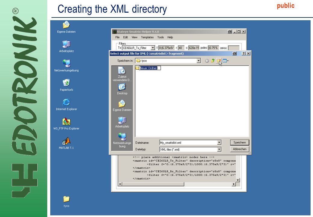 MP IP Strategy 2005-06-22 public Creating the XML directory