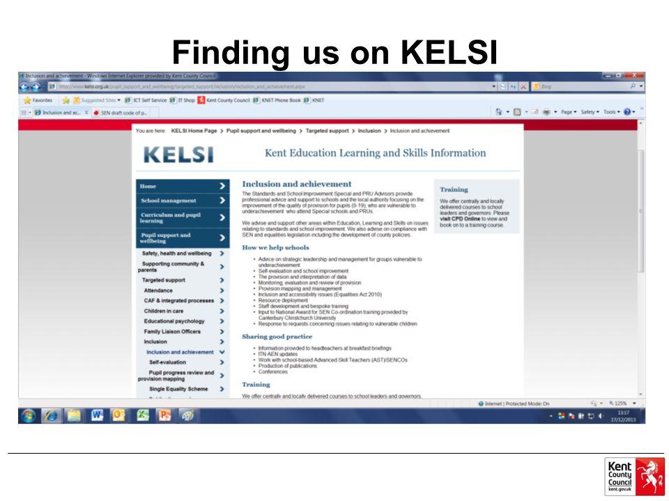 Finding us on KELSI