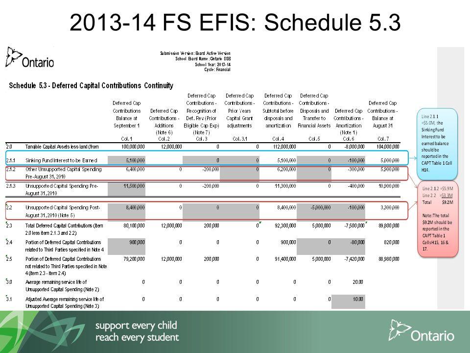 2013-14 FS EFIS: Schedule 5.3