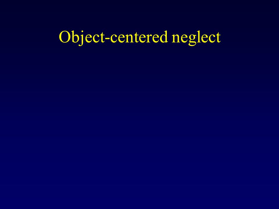 Object-centered neglect