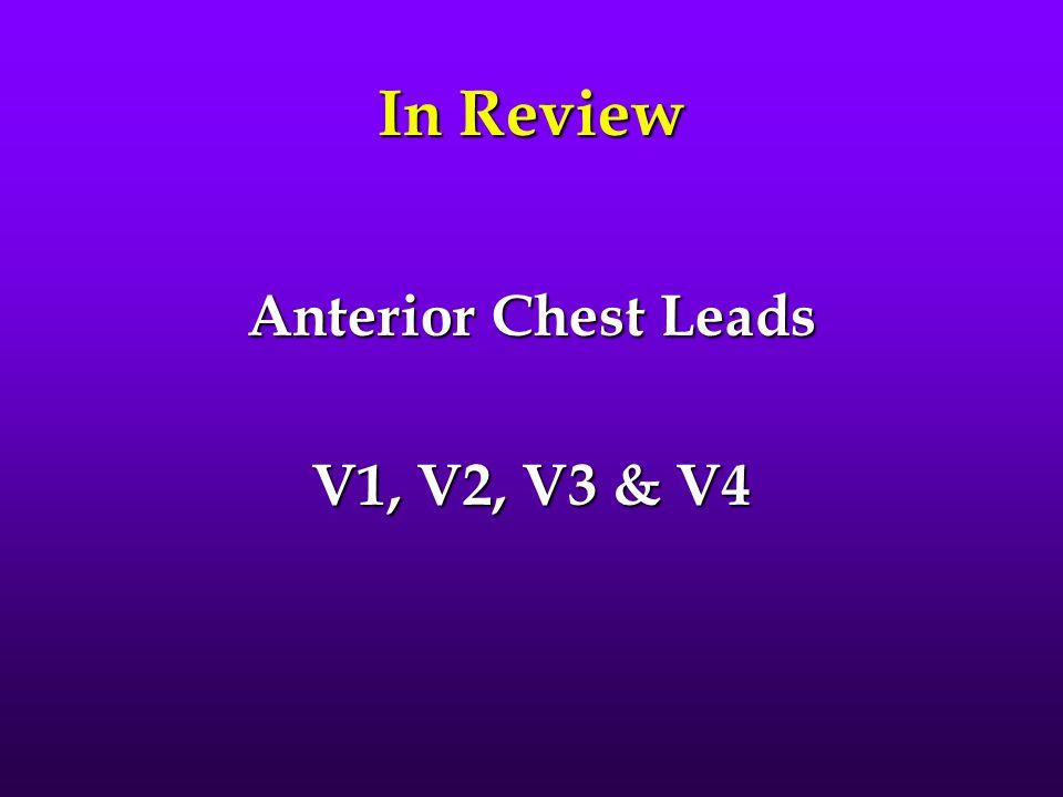 In Review Anterior Chest Leads V1, V2, V3 & V4