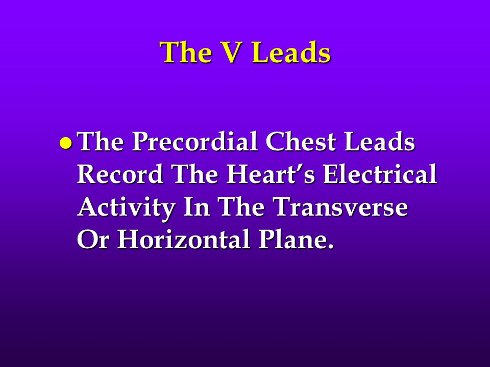 The T Wave l The T Wave Represents Repolarization Of The Ventricles.