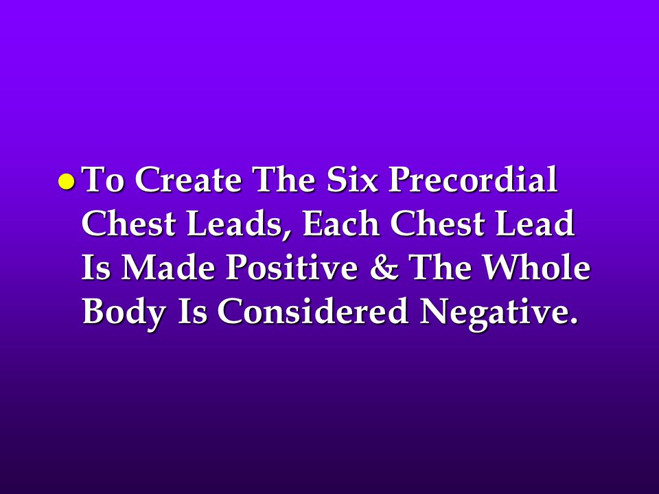 Lead Positioning l V1 Is Placed In The Fourth Intercostal Space To The Right Of The Sternum.