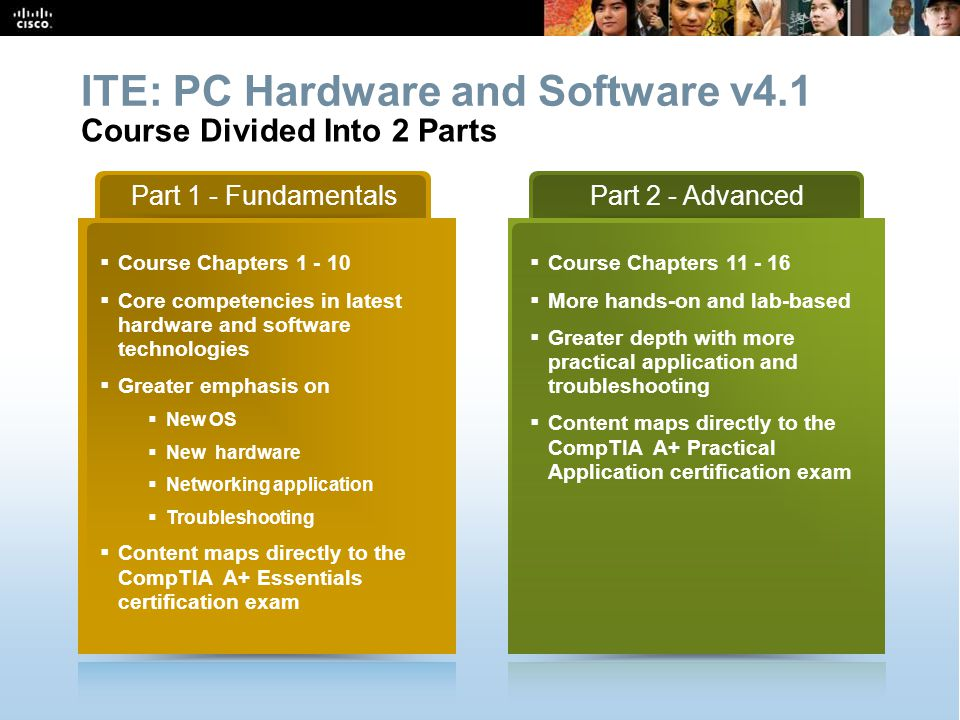 CCNA Overview 10 © 2009 Cisco Systems, Inc. All rights reserved. Cisco Public Part 1 - Fundamentals  Course Chapters 1 - 10  Core competencies in la