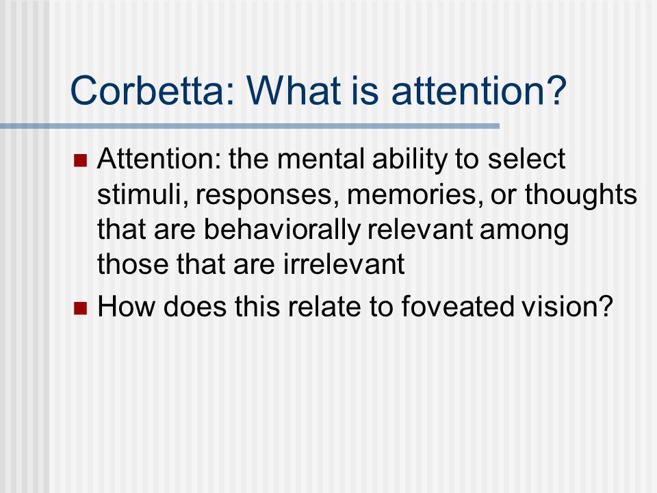 Brain Activity: Attention vs.