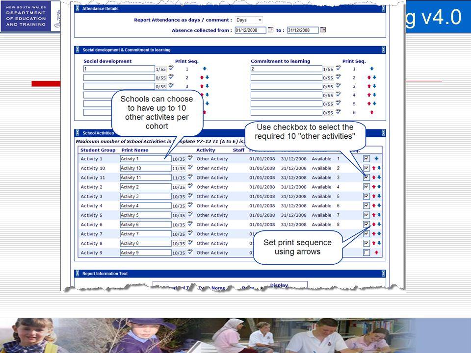School Based Student Reporting v4.0