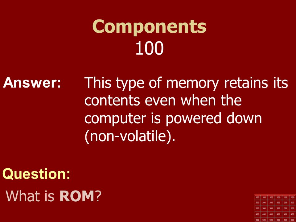 Answer: Question: Storage 500 Hard drives and motors use this measurement for speed. What is RPM (Revolutions per Minute) ?