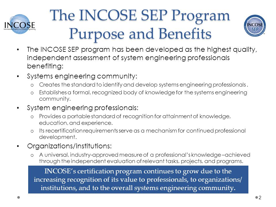 INCOSE Copyright Notice Copyright © 2006-2013 by INCOSE, subject to the following restrictions: o Author Use.