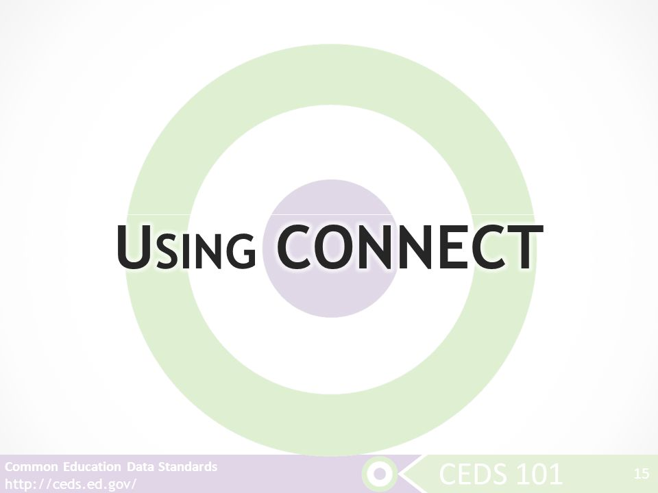 CEDS 101 Common Education Data Standards http://ceds.ed.gov/ 15