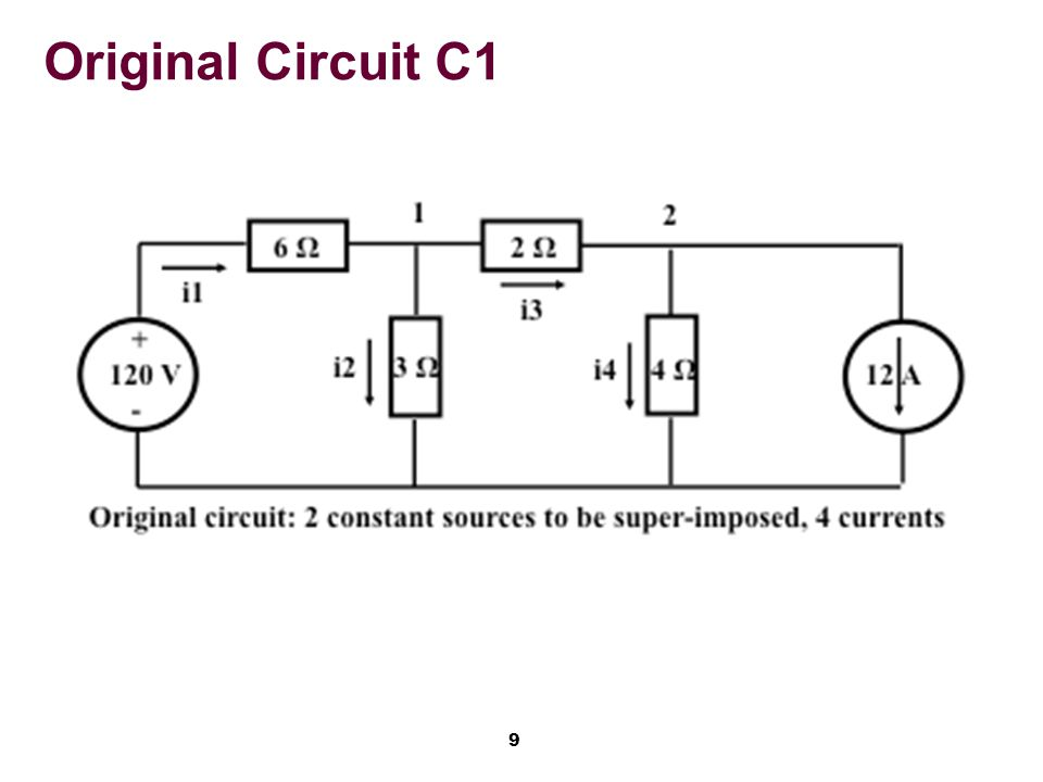 20 Conclusion Superposition allows breaking a complex problem into multiple smaller problems that are simpler each Applicable only in linear systems Resistive circuits are linear.