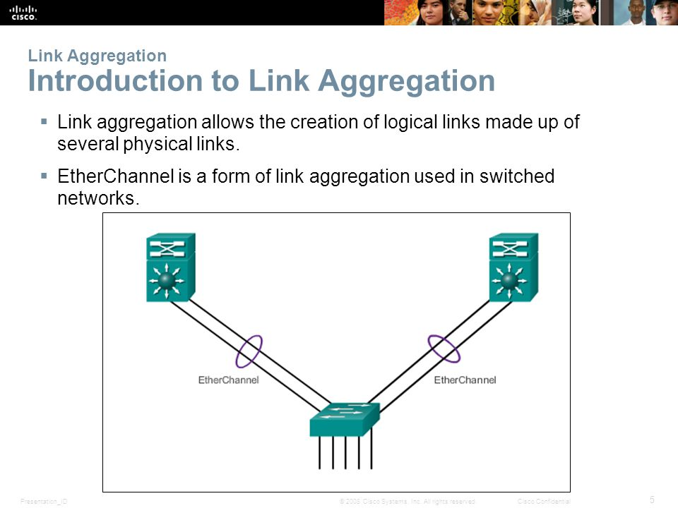 Presentation_ID 5 © 2008 Cisco Systems, Inc. All rights reserved.Cisco Confidential Link Aggregation Introduction to Link Aggregation  Link aggregati