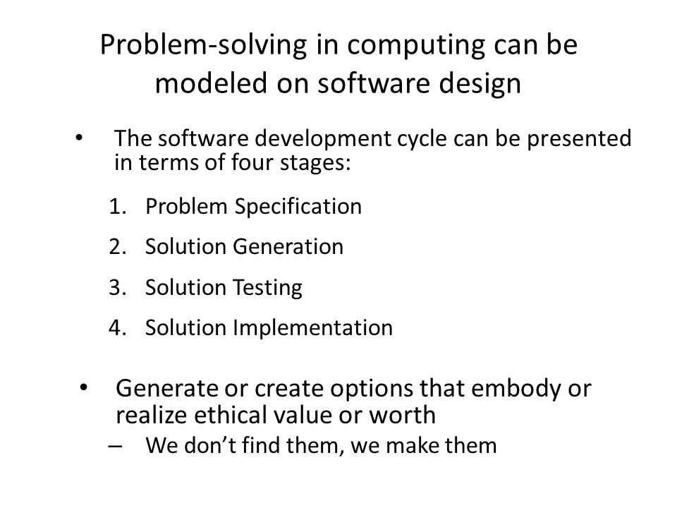 The Difference between choice and problem-solving.