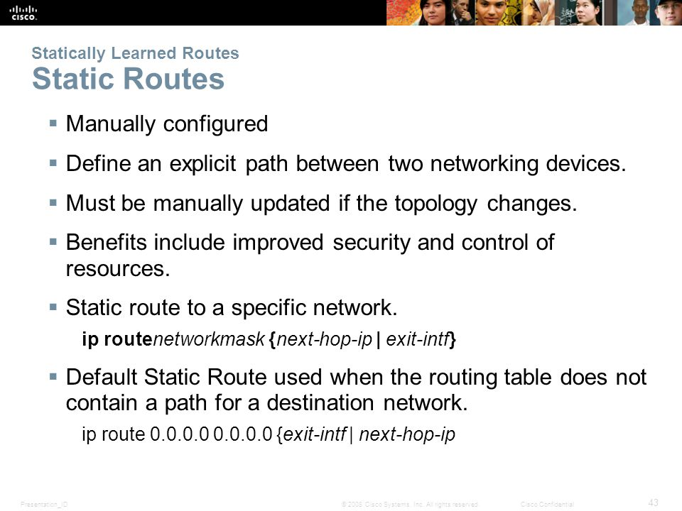 Presentation_ID 43 © 2008 Cisco Systems, Inc.