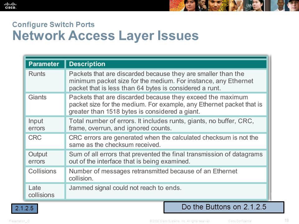Presentation_ID 18 © 2008 Cisco Systems, Inc.
