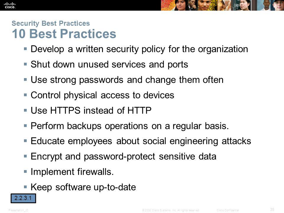 Presentation_ID 35 © 2008 Cisco Systems, Inc.