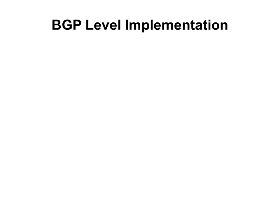 BGP Level Implementation