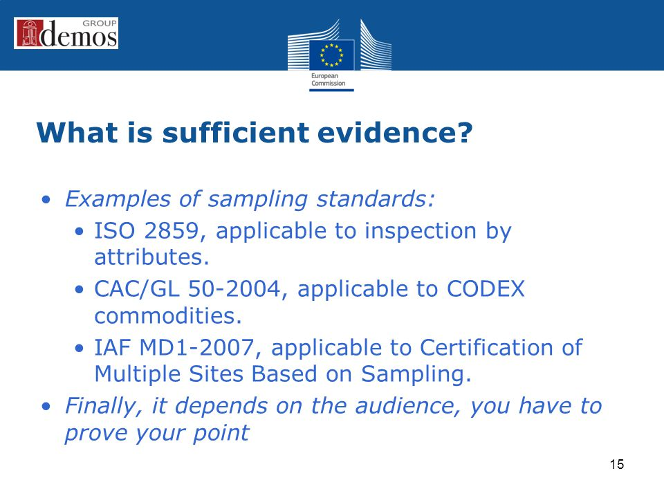 What is sufficient evidence.