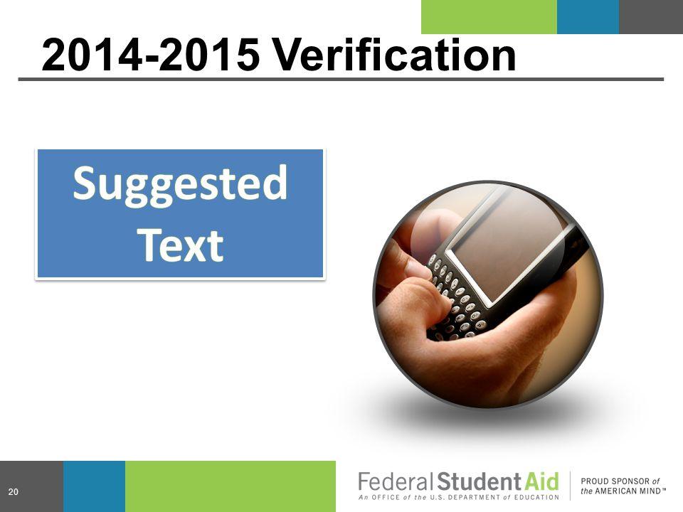 20 2014-2015 Verification