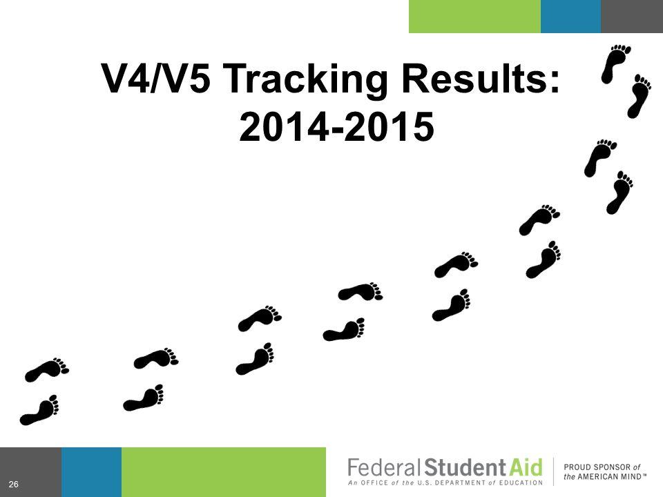 26 V4/V5 Tracking Results: 2014-2015