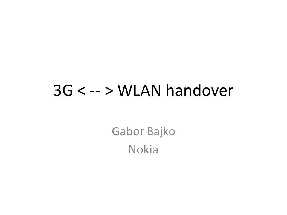 3G WLAN handover Gabor Bajko Nokia