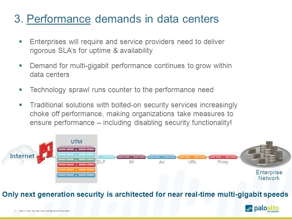 3. Performance demands in data centers  Enterprises will require and service providers need to deliver rigorous SLA's for uptime & availability  Dem
