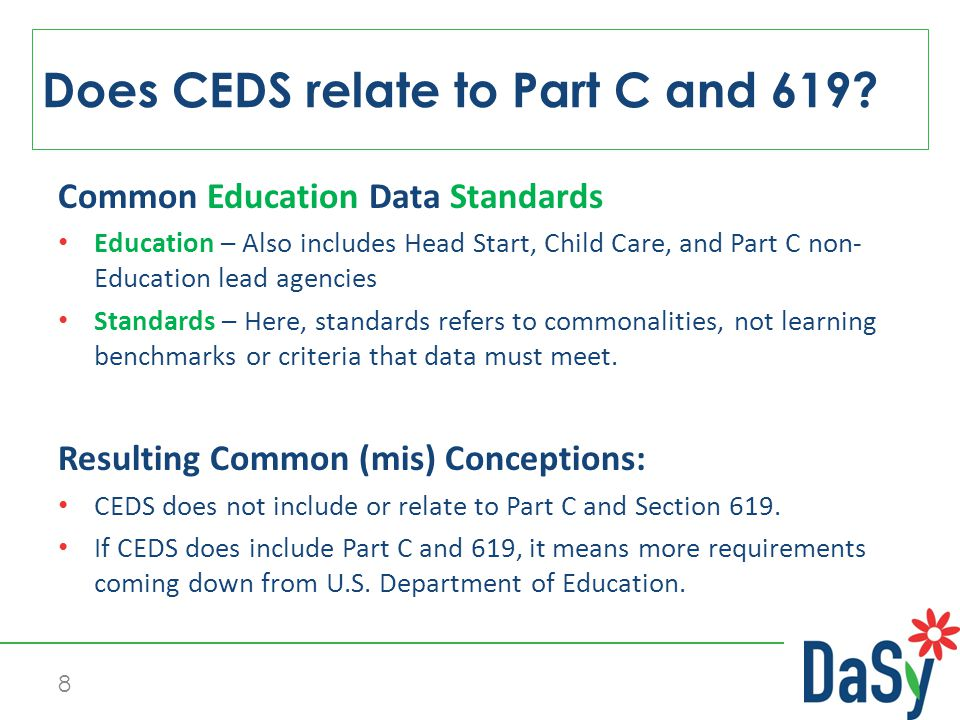 CEDS 101 Common Education Data Standards http://ceds.ed.gov/ 9 What is CEDS.