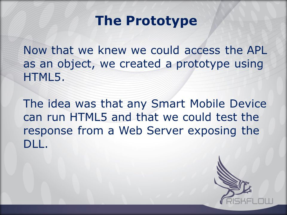The Prototype HTML5 however proved to be to slow – depending on the device - and also limited our capabilities in what could be achieved visually.