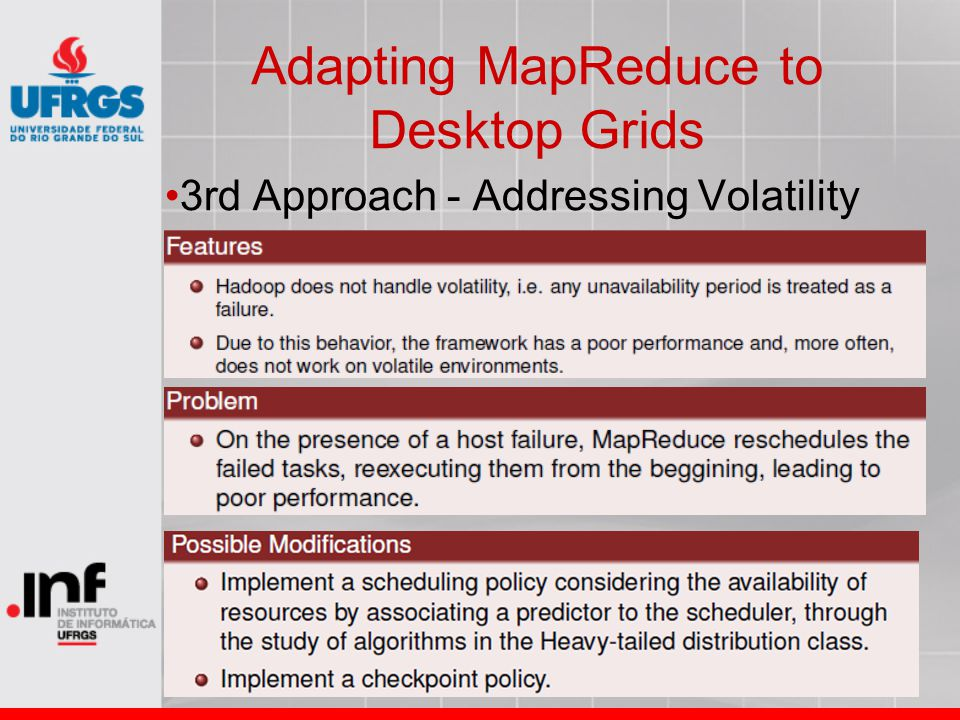 Adapting MapReduce to Desktop Grids 3rd Approach - Addressing Volatility