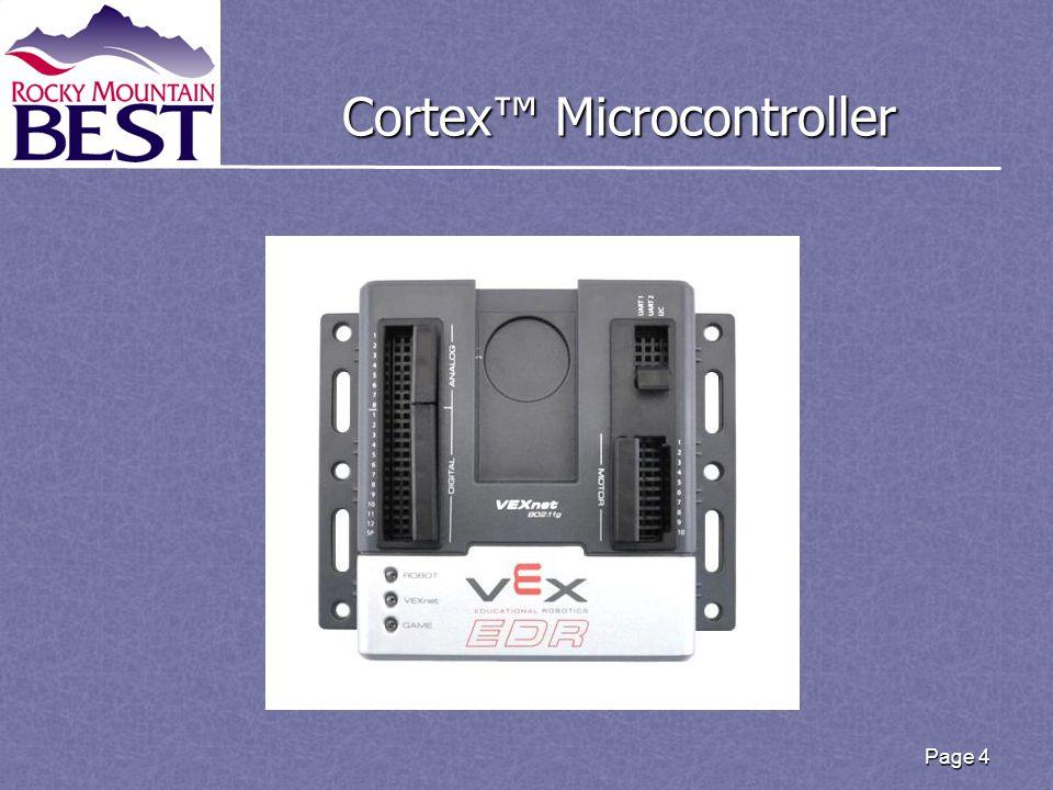 Cortex™ Microcontroller Page 4