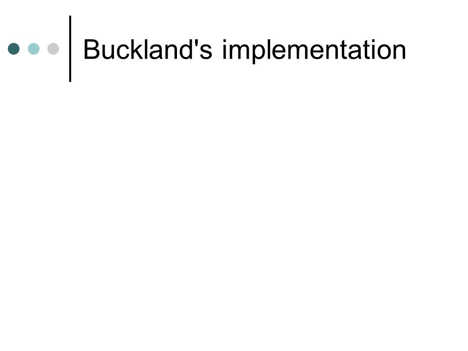 Buckland's implementation