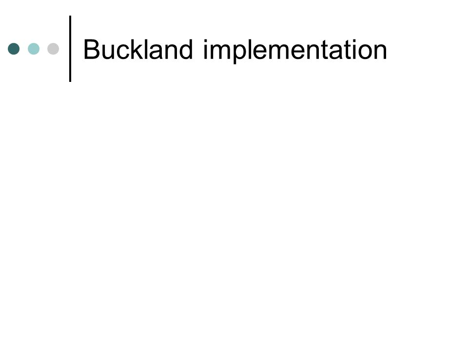 Buckland implementation