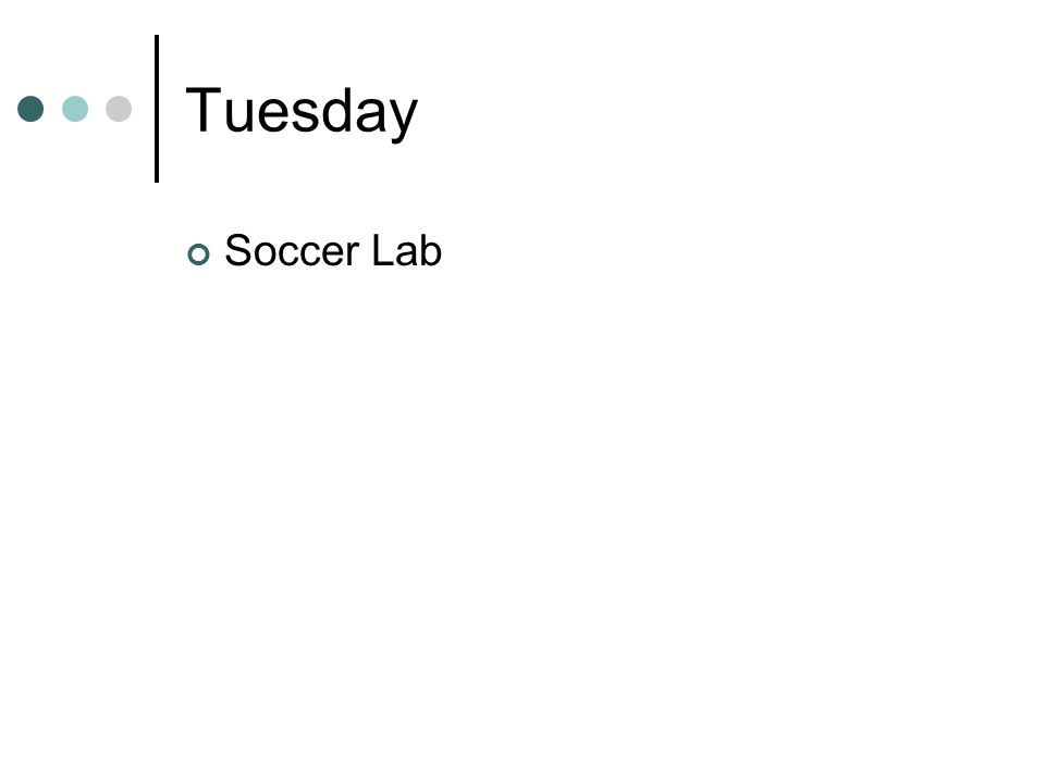 Tuesday Soccer Lab