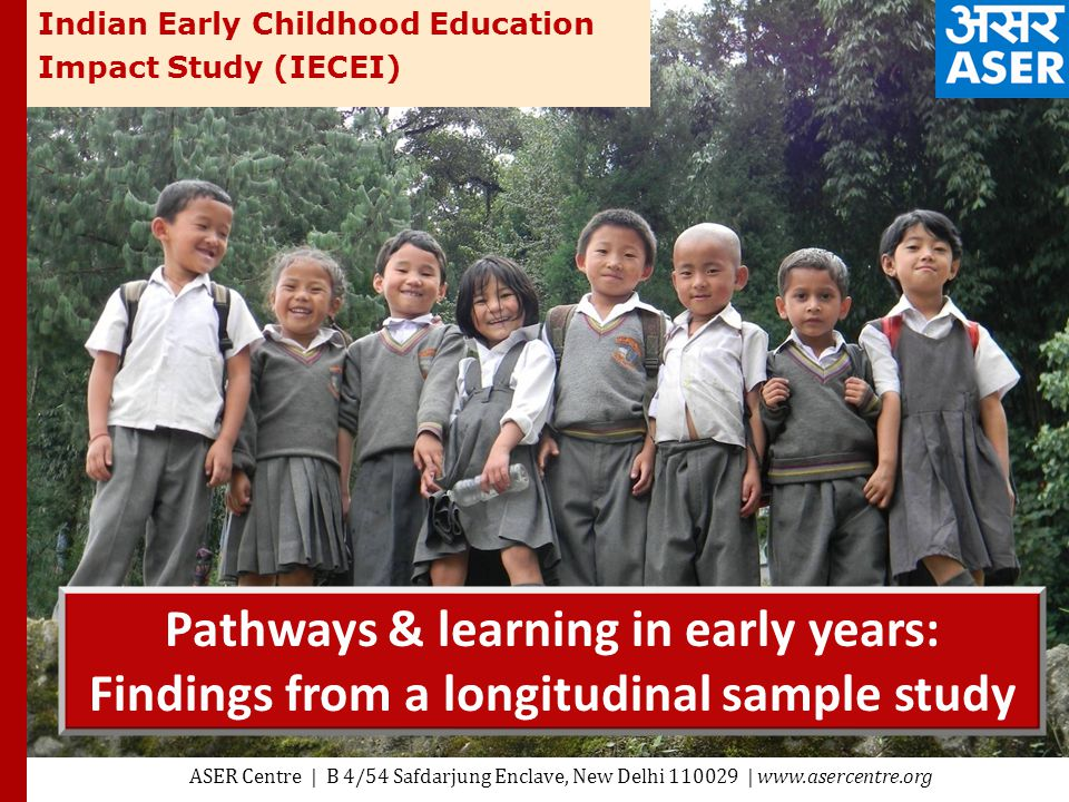 Pathways & learning in early years: Findings from a longitudinal ...