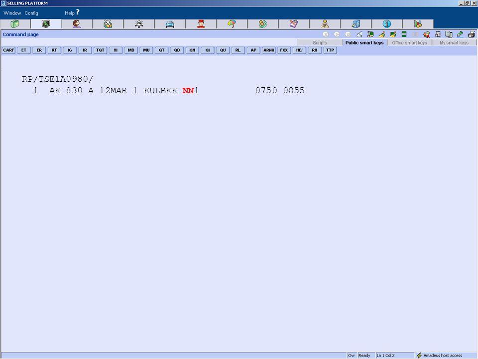RP/TSE1A0980/ 1 AK 830 A 12MAR 1 KULBKK NN1 0750 0855
