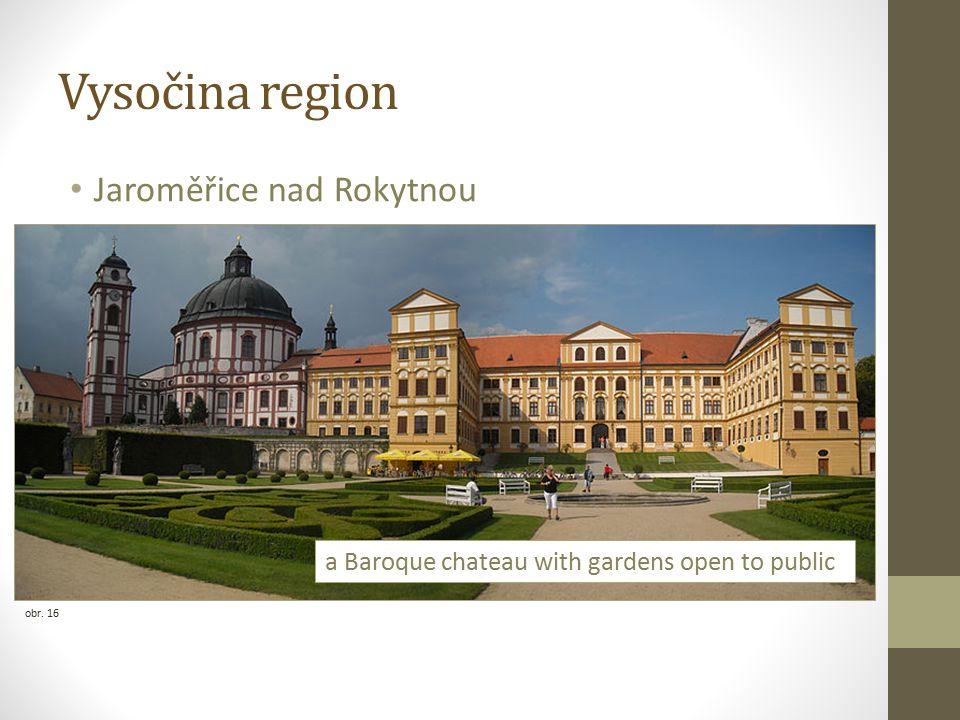 Vysočina region Jaroměřice nad Rokytnou obr. 16 a Baroque chateau with gardens open to public