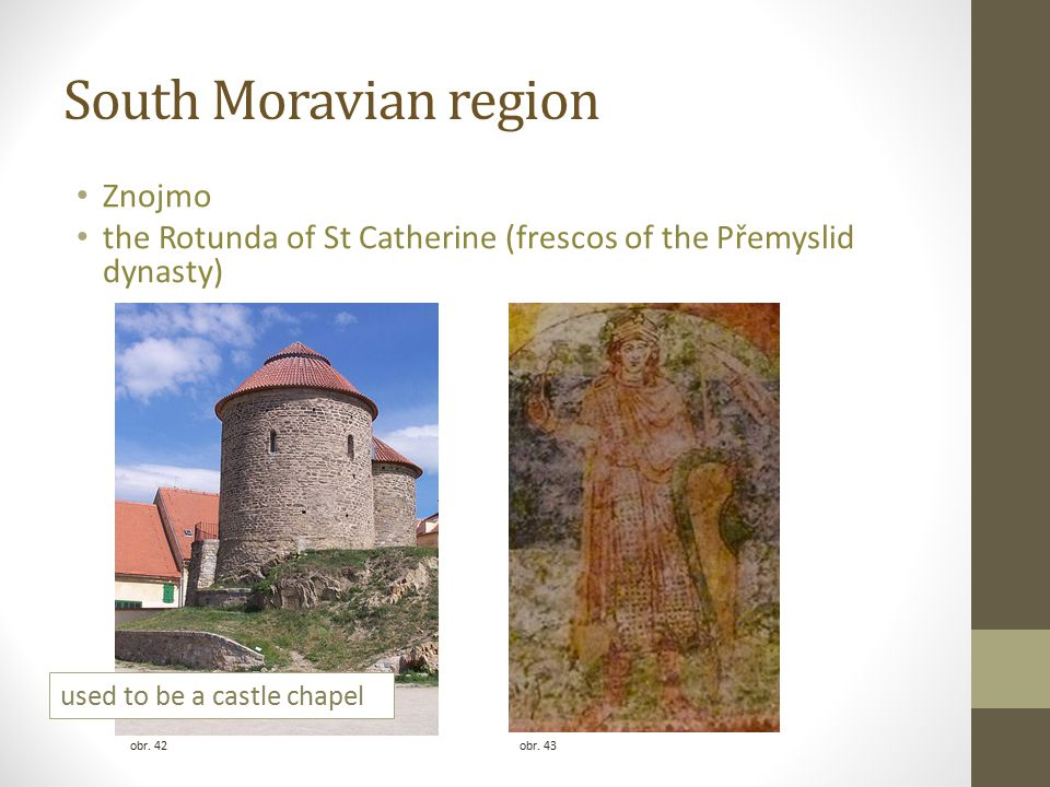 South Moravian region Znojmo the Rotunda of St Catherine (frescos of the Přemyslid dynasty) obr.