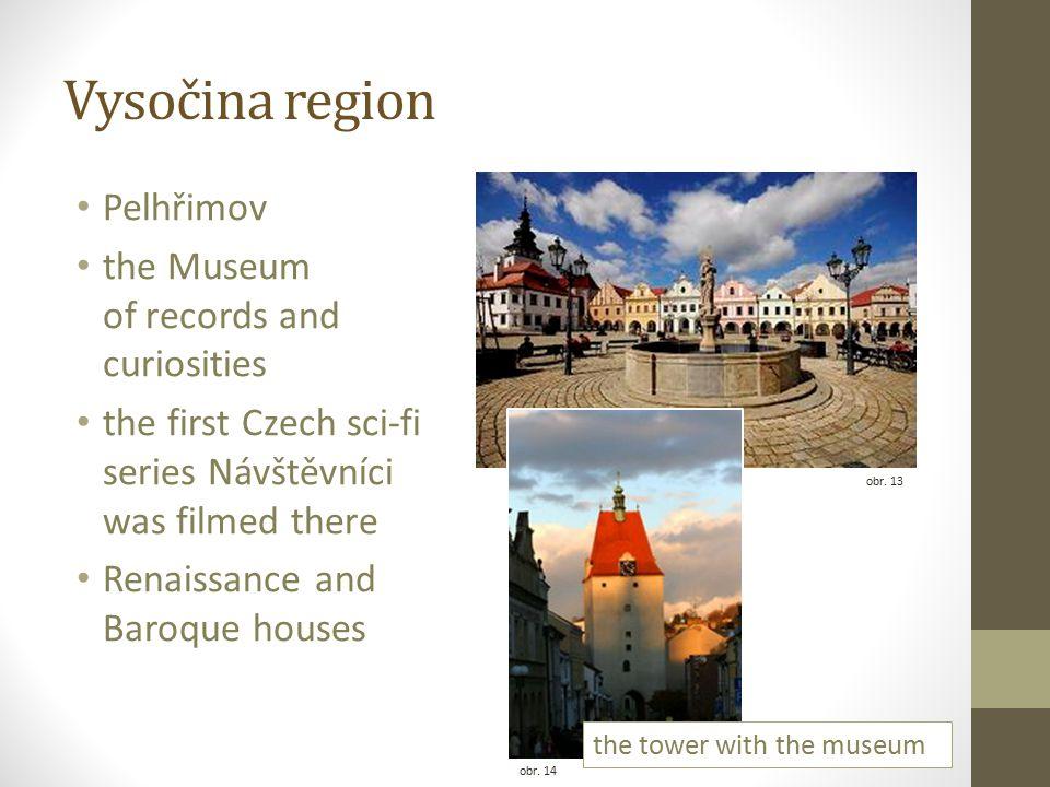 Vysočina region Pelhřimov the Museum of records and curiosities the first Czech sci-fi series Návštěvníci was filmed there Renaissance and Baroque houses obr.